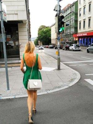 Zara Sukienka z rękawem balonowym zielony
