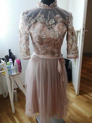 Chi Chi London Cocktail Dress dusky pink