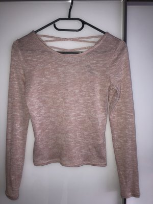 H&M Backless Top rose-gold-coloured-white