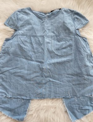 Rückenfreies Jeans Top von Zara