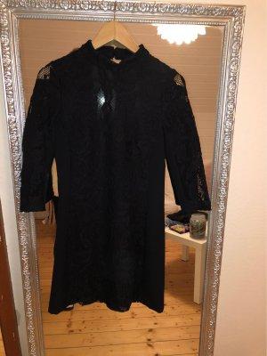 H&M Vestido de encaje azul oscuro