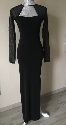 Feeling Stretch jurk zwart Acetaat