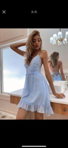 SheIn Robe Babydoll bleu clair