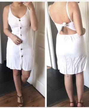 Rückenfreies Kleid mit Knopfleiste Boho