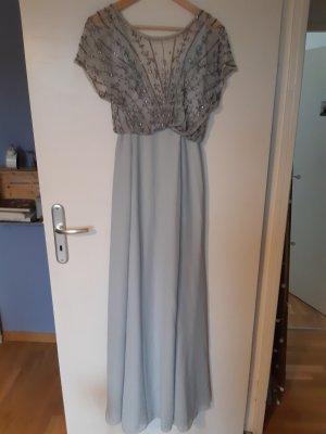 Asos Robe de soirée argenté-bleu azur