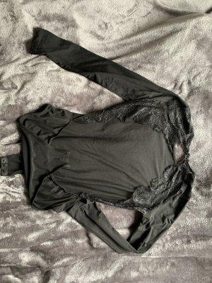Top schiena coperta nero