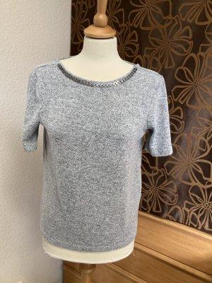 Pimkie Blusa sin espalda color plata tejido mezclado