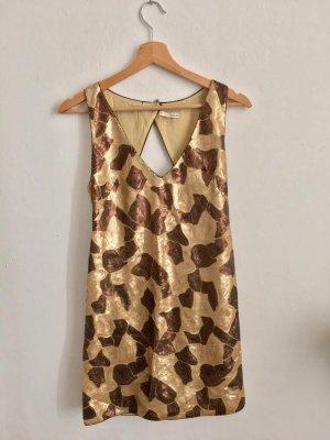 Rückenfreies Pailletten Kleid