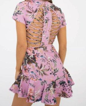 Rückenfreies Rosa Kleid im Zimmermann Style