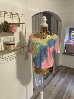 Blusa sin espalda multicolor