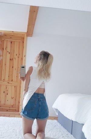 Rückenfreies Shirt vorn kürzer geschnitten Trend Blogger Musthave