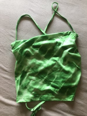 SheIn Blusa sin espalda verde