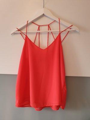 Vero Moda Blusa sin espalda rojo claro