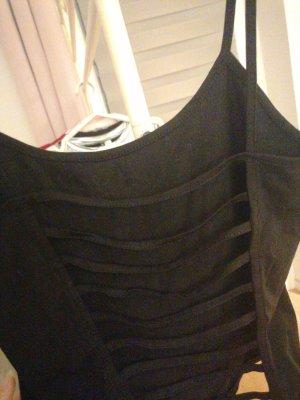 Top z odkrytymi plecami czarny