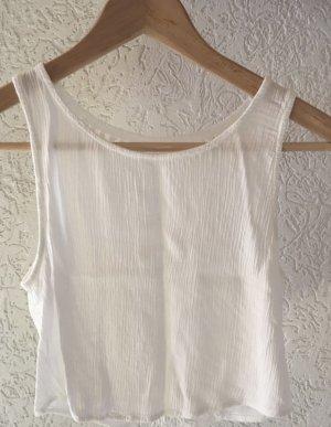 H&M x Coachella Collection Blusa sin espalda blanco