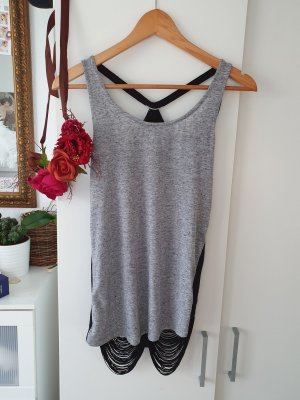 Only Backless Top black-dark grey