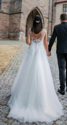Mode de Pol Wedding Dress white