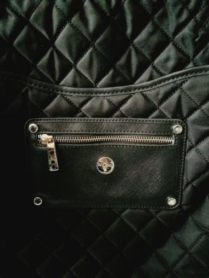 KNOMO London Laptop rugzak zwart-magenta kunststof