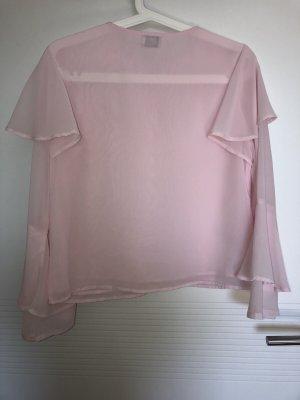 Andrea Hedenstedt x NA-KD Blouse à volants rose-rose clair