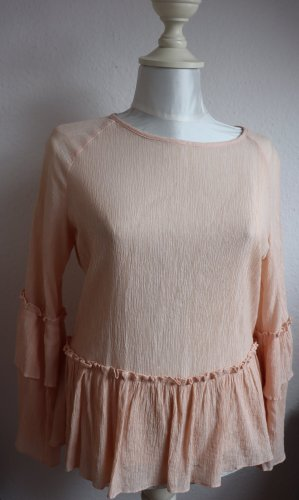 Rüschen-Bluse in rosa Casual-Look