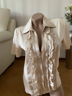 NC nice connections Ruffled Blouse cream cotton