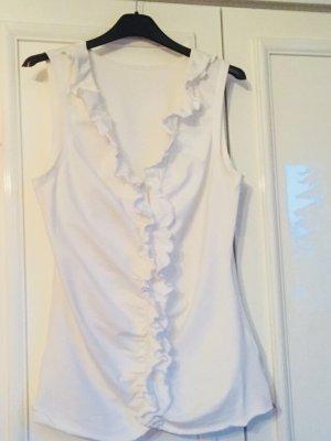 Esprit V-Neck Shirt white