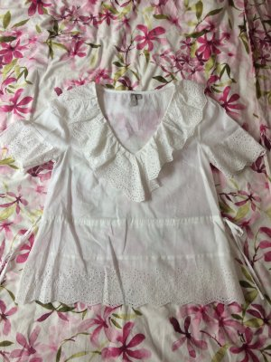 Asos Ruffled Blouse white cotton