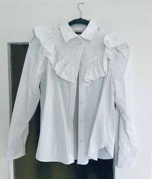 H&M Ruche blouse wit