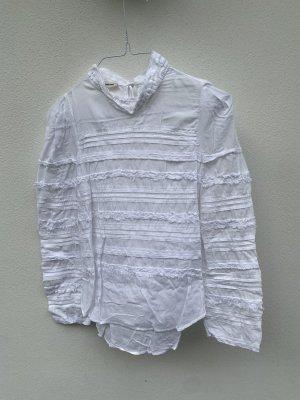 Zadig & Voltaire Blusa de manga larga blanco