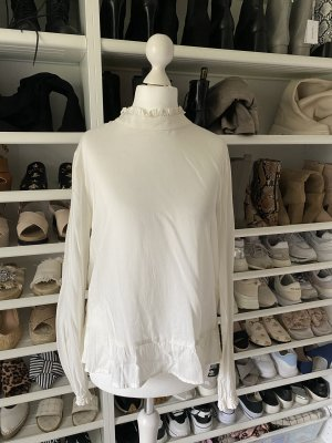 United Colors of Benetton Blusa con collo alla coreana crema