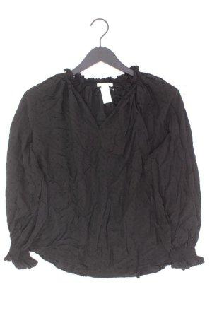 Bluzka z falbankami czarny Wiskoza