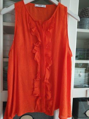 Rüschenbluse in orange