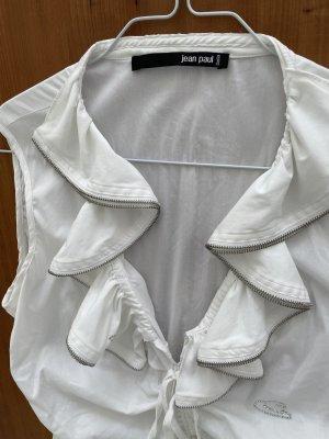 Jean Paul Blouse à volants blanc coton