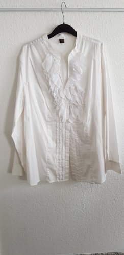 Selection by s.oliver Blouse à volants blanc