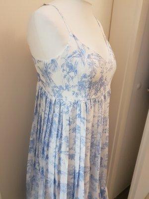 Rüschenkleid blauweiss
