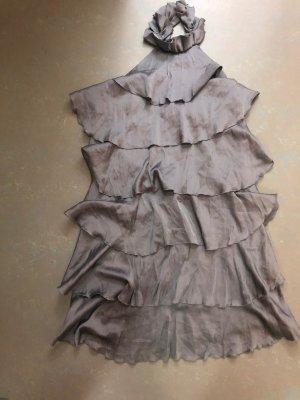 Vero Moda Robe dos-nu gris clair-argenté tissu mixte
