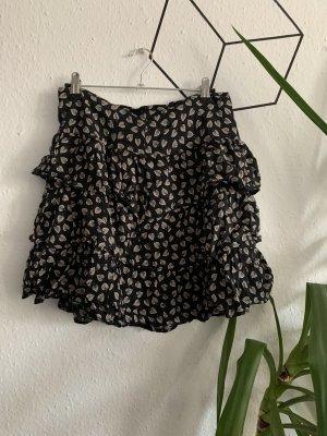 Broomstick Skirt cream-black