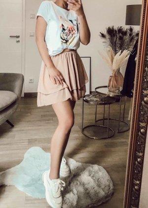 Boutique Comtesse Skaterska spódnica różany-kremowy
