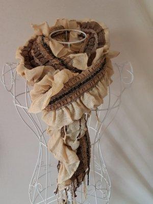 Écharpe froissée brun sable-marron clair