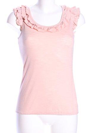 Top met franjes roze casual uitstraling