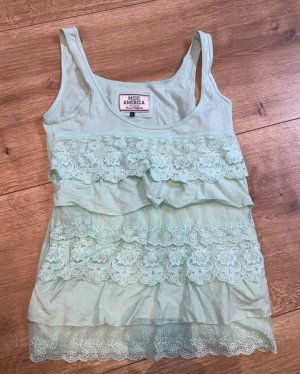 Miss America Frill Top turquoise-mint