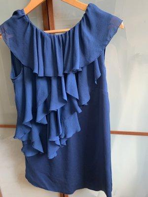 Sisley Top à volants bleu