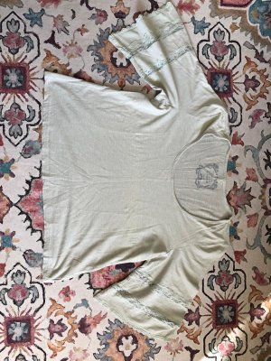 KappAhl Crochet Shirt pale green cotton