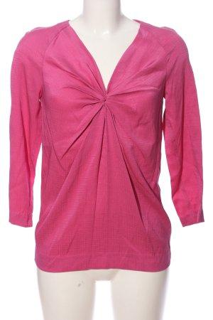 Rützou Glanzbluse pink Karomuster Casual-Look