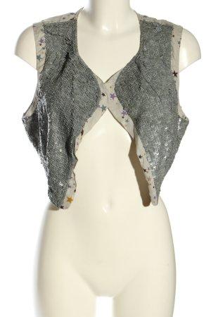 Rützou Reversible Vest light grey allover print wet-look