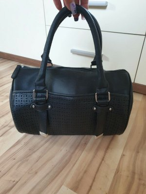 Runde Handtasche, schwarz, Atmosphere