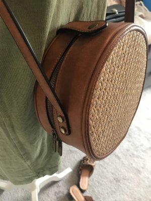 Torebka koszyk brązowy-jasnobrązowy