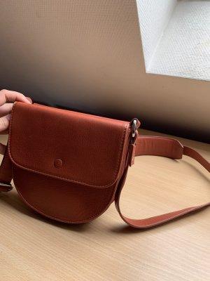 Runde Leder Tasche