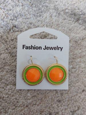 Zanzea Orecchino a vite arancio neon-verde