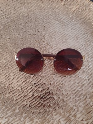 Bijou Brigitte Round Sunglasses bronze-colored-gold-colored